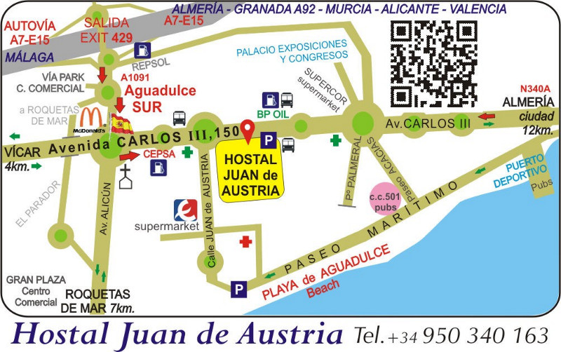 HJA How to get Almeria airport train station bus taxi rental car
